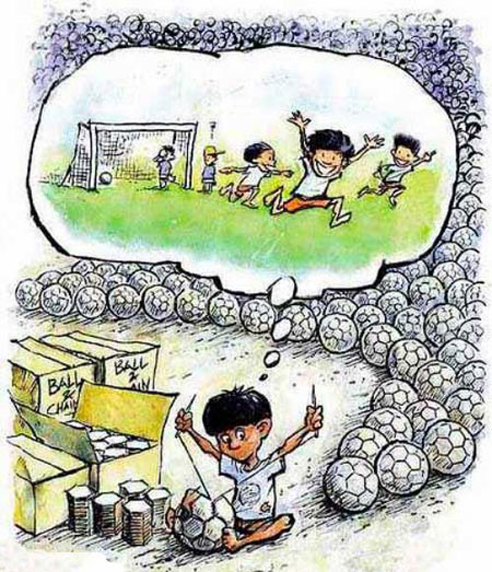 کاریکاتور های کودکان کار