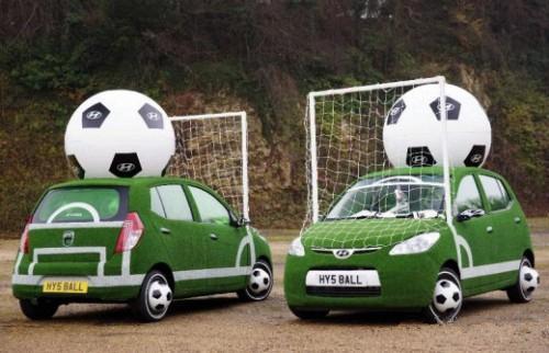 عکسهای جالب از ماشین یک عاشق فوتبال