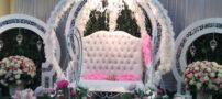 تزیین زیبای جایگاه عروس و داماد