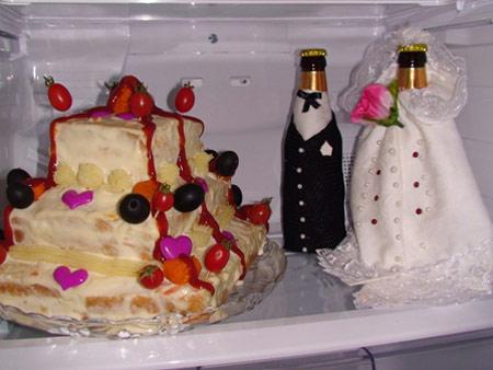 تزیین بسیار زیبای یخچال عروس