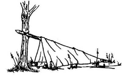 چگونه در سفر یک سرپناه بسازیم؟