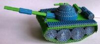 آموزش ساخت تانک با مقوای موج دار