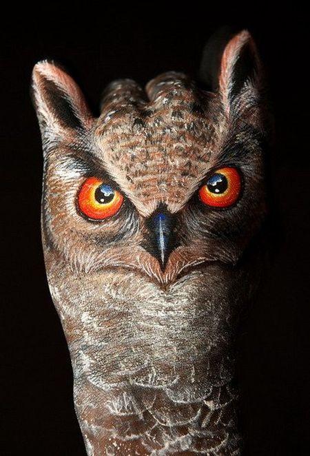 عکس های جالب و دیدنی نقاشی پرندگان روی بدن