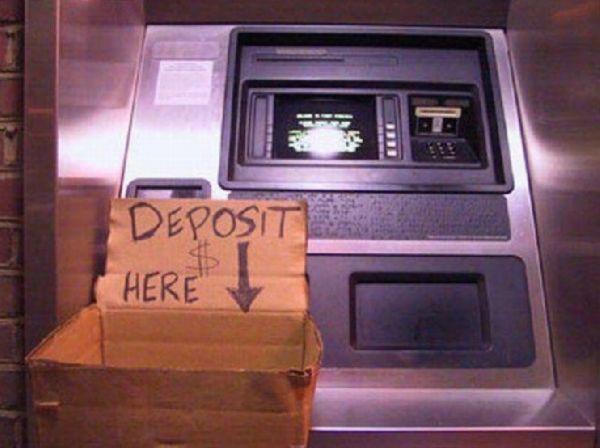 عکس های خنده دار از عابر بانک ها