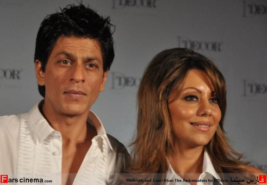 عکس شاهرخ خان بازیگر هندی با همسرش