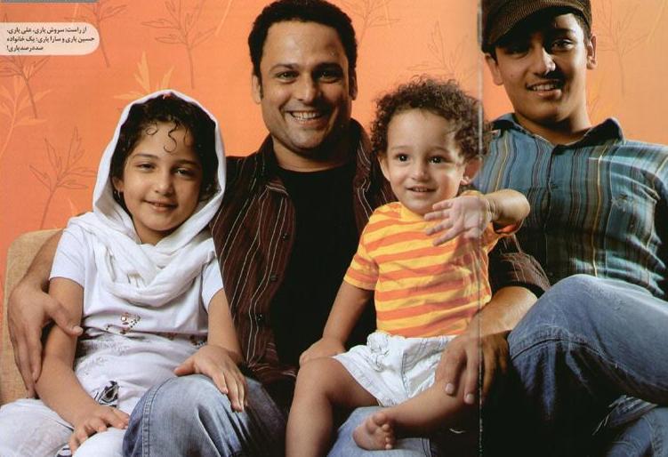 بازیگر حسین یاری و خانواده اش (عکس)