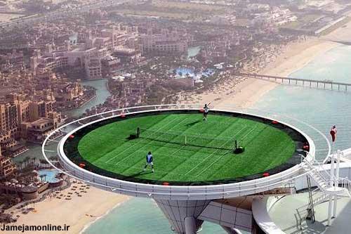 عکس از عجیب ترین اماكن ورزشی