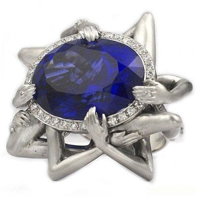زیباترین انگشتر های جواهر نشان