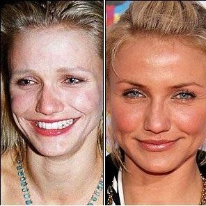 قبل و بعد آرایش بازیگران زن معروف هالیوود