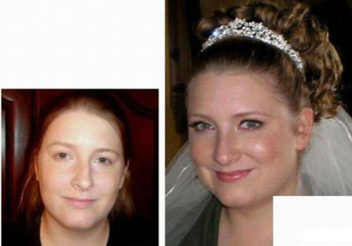 عکس هایی جالب از قبل و بعد عروس شدن خانم ها