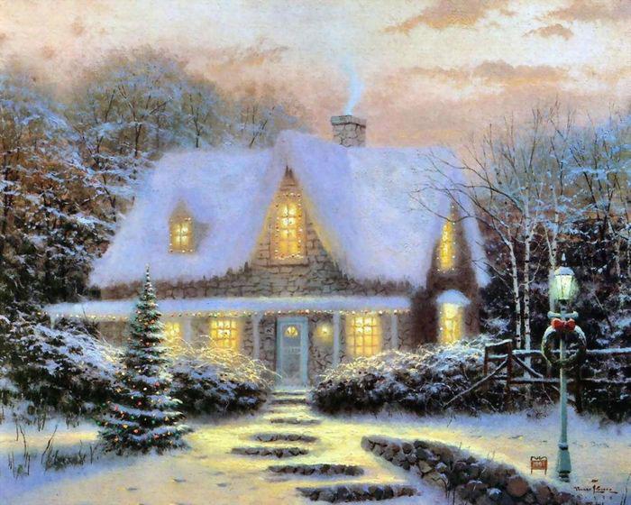 نقاشی های جالب از منظره و خانه های رویایی