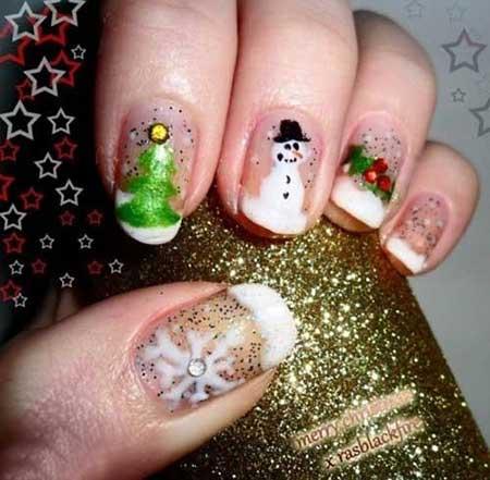 مدل های زیبای ناخن الگوها و نمادهای کریسمس