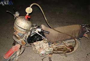 پیشرفته ترین موتور سیکلت دنیا در ایران (عکس طنز )