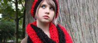 مدل های جدید شال و کلاه بافتنی دخترانه