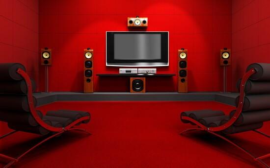 عکس از مدل دکوراسیون و چینش سینمای خانوادگی