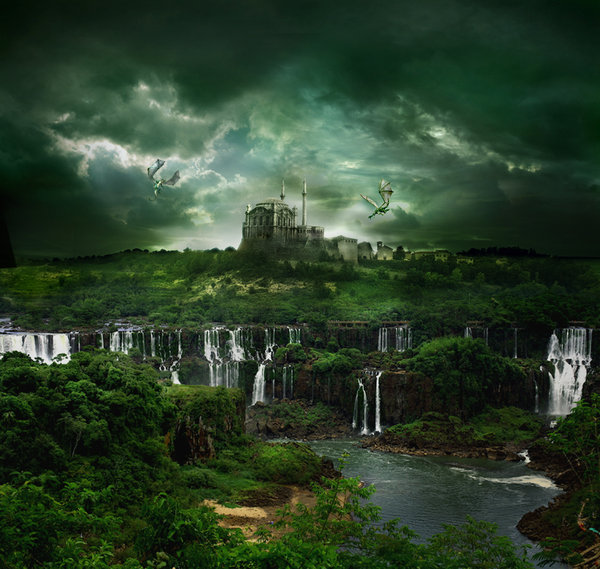 عکس های دیدنی از نقاشی آبشارها