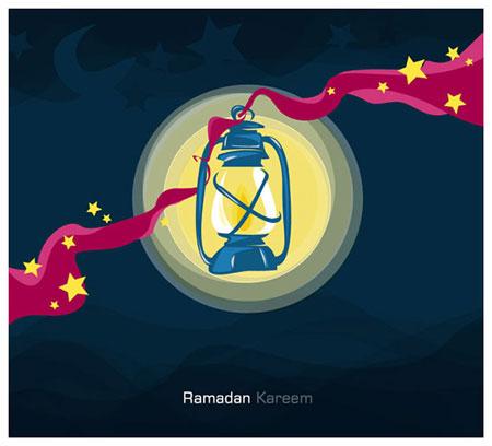 کارت پستال ماه مبارک رمضان