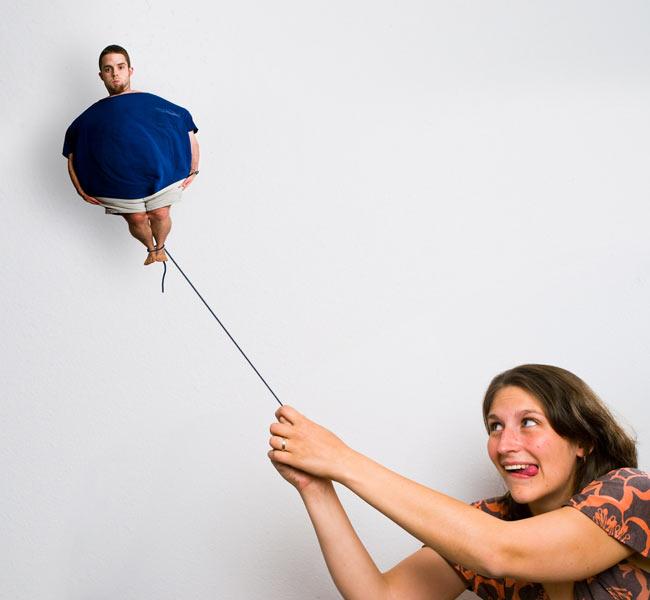 عکس هایی خنده دار از دعوای زن و شوهر - فتوشاپ