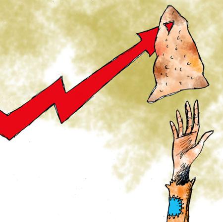 کاریکاتور افزایش قیمت نان