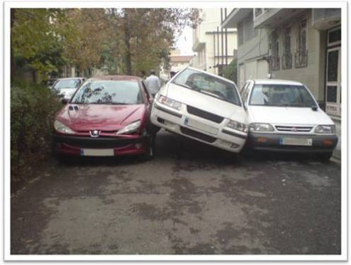 عکس هایی از یک تصادف عجیب در تهران