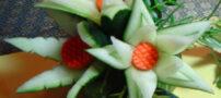 آموزش میوه آرایی (تزئینی خیار)