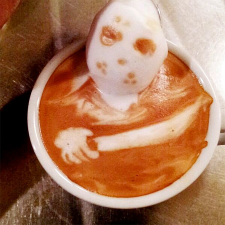 عکسهایی جالب از هنرنمایی های زیبا با قهوه