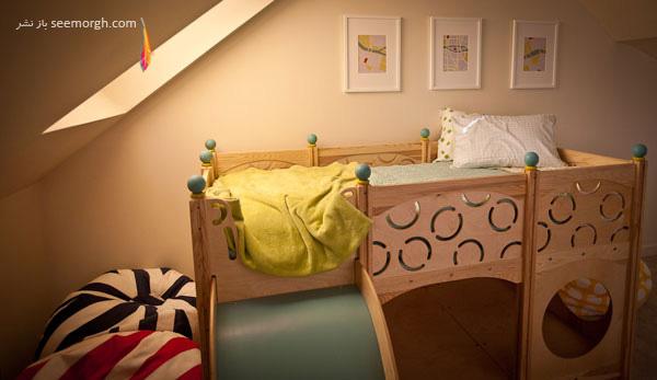 عکس هایی از عجیب ترین تخت خواب های کودک