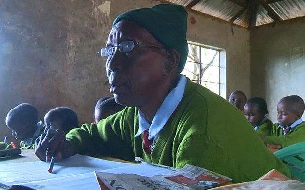 پیرترین زن دانش آموز ابتدایی (+عکس )