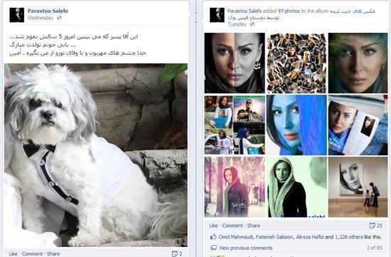 تصاویر جشن تولد بازیگر ایرانی برای سگش