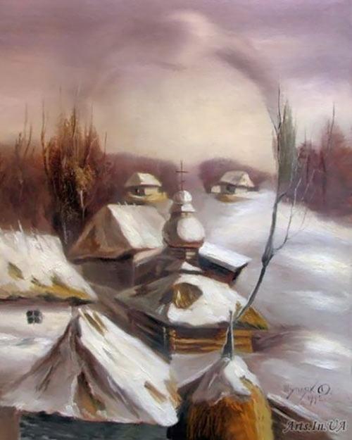 نقاشی های بسیار زیبای چهره پنهان
