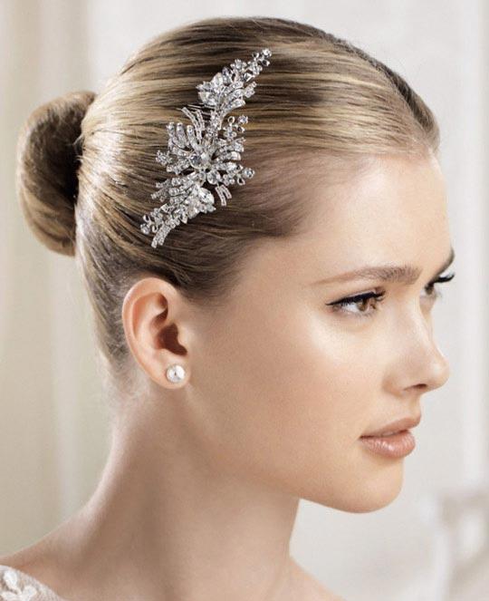 انواع مختلف مدل های جدید گل سر ساده عروس