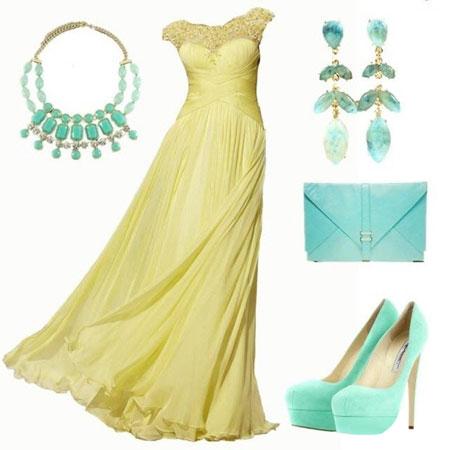 ست لباس بسیار زیبای مجلسی رنگ سال