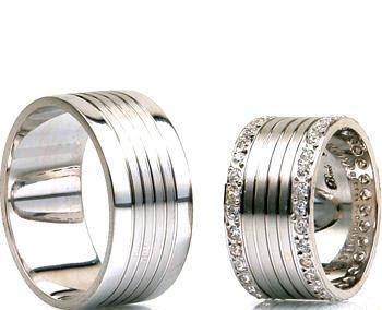 زیباترین مدل ست های حلقه طلا سفید