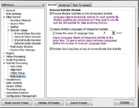 اجرای همزمان دو زیر نویس در KMPlayer