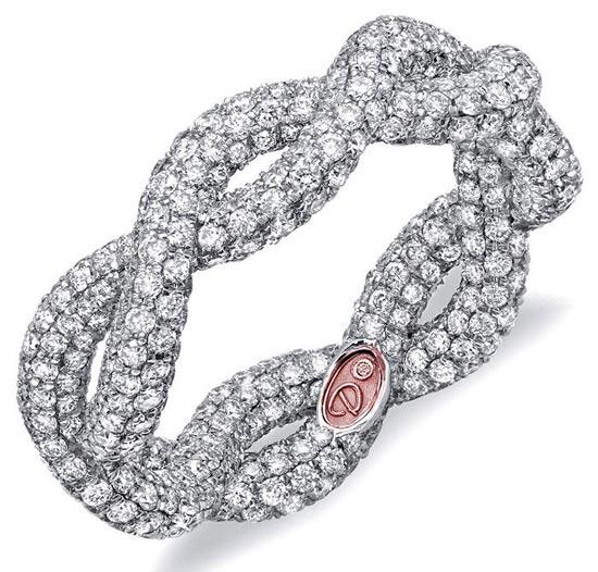 مدلهای حلقه عروسی رنگ نقره ای