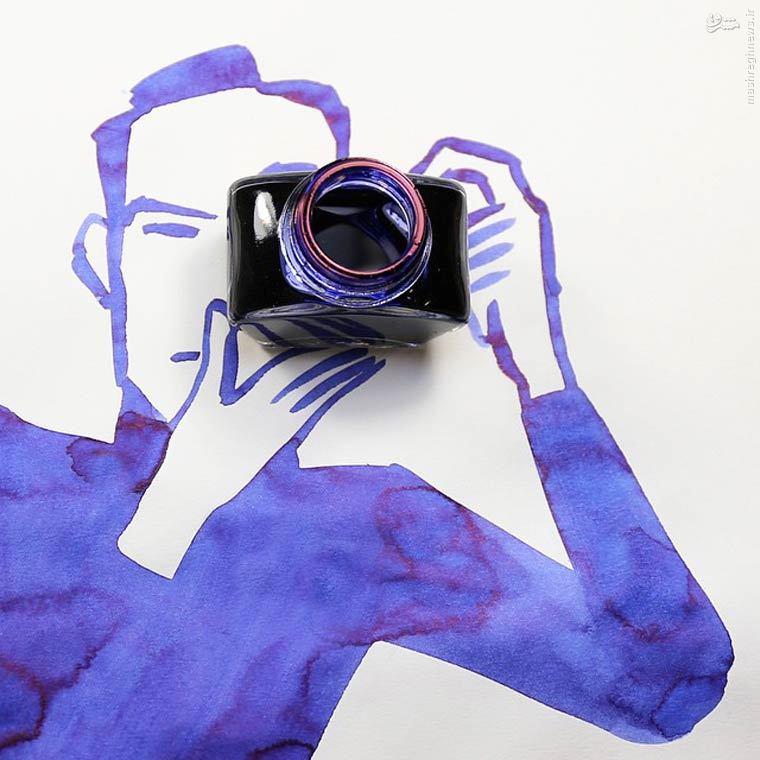 نقاشی های جالب با کمی خلاقیت (عکس)