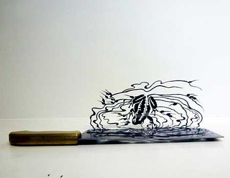 تصاویر برش های جالب و خلاقانه روی چاقو