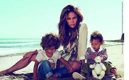 عکس های جنیفر لوپز به همراه فرزندانش