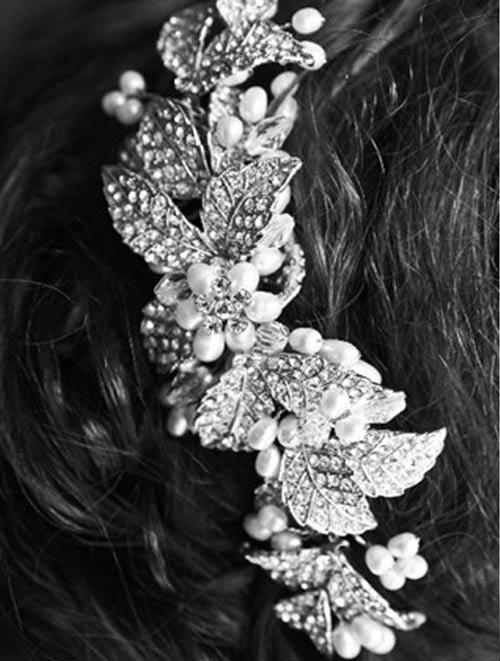 مدل های زیبا از گل سر عروس