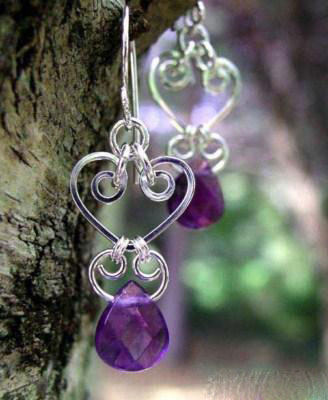 مدل جواهرات زیبای رنگ بنفش