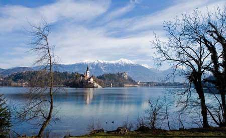 تصاویر رومانتیک دریاچه بلد اسلوونی