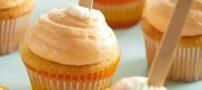 طرز تهیه کاپ کیک با خامه پرتقالی