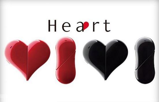 تلفن همراه جالب به شکل قلب + عکس
