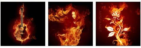 تصاویر فوتوشاپی با مضمون آتش