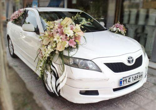 زیباترین مدل های گل آرایی ماشین عروس