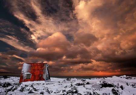 تصاویر بسیار زیبا و دیدنی از کلبه های برفی
