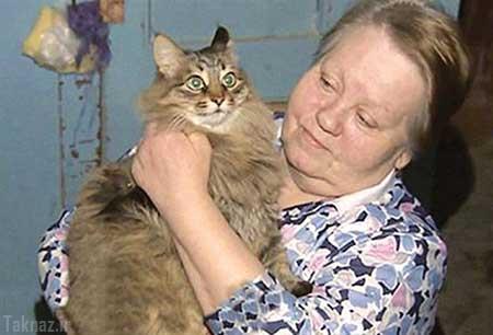گربه قهرمان جان نوزاد سر راهی را نجات داد + عکس