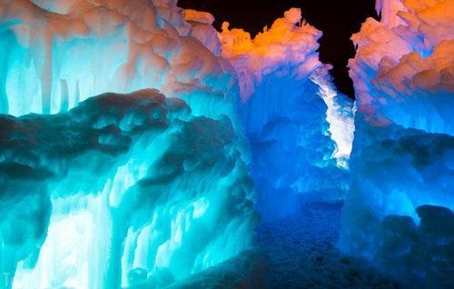 عکس های بسیار زیبا و دیدنی از ترکیب یخ و آتش