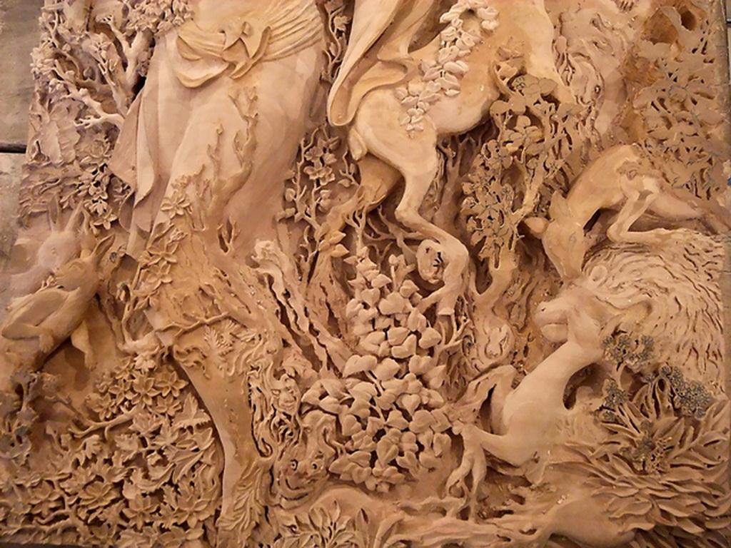 هنر ظریف کاری روی چوب ارومیه