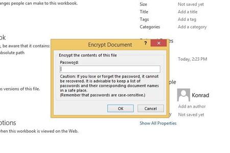 چطور یک پروژه اکسل را رمز گذاری کنیم